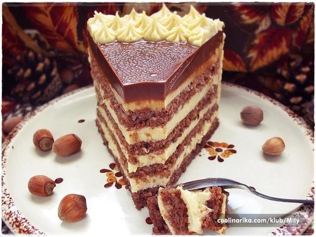 Torta s lješnjacima i karamelom