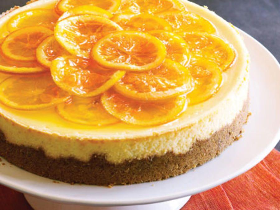 Plavi kolač od narančaste vrpce